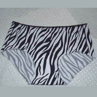 Nylon Middle Waist Seamless Panties breathable   seamless with Cotton printed zebra pattern Size:Free Size