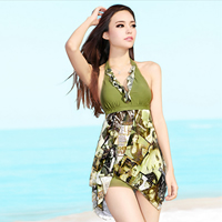 Nylon One-piece Swimsuit breathable   skinny style printed Cartoon
