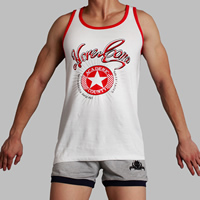 Spandex   Cotton Men Athletic Tank breathable printed different color and pattern for choice Sold By PC