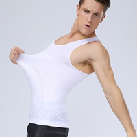 Nylon & Spandex Men Body Shaper Vest, different size for choice & skinny & shaped, Solid, more colors for choice, 3PCs/Lot, Sold By Lot