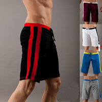 Polyester Men Sports Pants regular   breathable patchwork Sold By PC