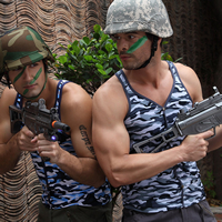 Modal Men Athletic Tank breathable camouflage Sold By PC