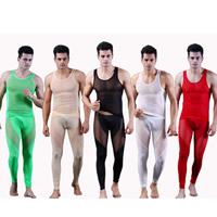 Modal Men Tank Top and Panties Set skinny   breathable tank top   Pants Solid Sold By Set