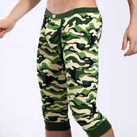 Modal Men Capri Pants regular   breathable camouflage