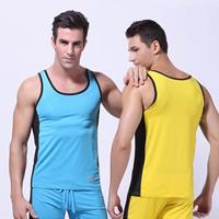 Spandex   Polyester Men Athletic Tank regular   breathable patchwork