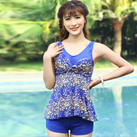 Polyester Tankinis Set two piece   breathable   padded printed floral Size:Free Size