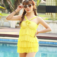 Polyester Tankinis Set two piece   breathable   padded dot Size:Free Size