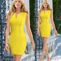 Polyester   Cotton One-piece Dress above knee Solid Sold By PC