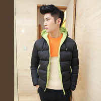 Polyester & Cotton Men Parkas, different size for choice & regular & thermal & breathable, Solid, more colors for choice, Sold By PC