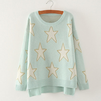 Cotton Women Sweater, printed, star pattern, more colors for choice, Size:Free Size, Sold By PC