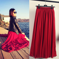Chiffon & Polyester Skirt Solid Sold By PC