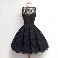 Polyester   Cotton Princess One-piece Dress with Lace patchwork