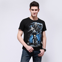 Cotton Men Short Sleeve T-Shirt printed different color and pattern for choice