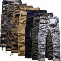 Cotton Middle Waist Men Casual Pants different color and pattern for choice