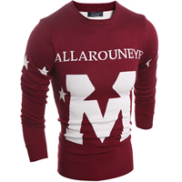 Woolen & Polyester Men Sweater, different size for choice & regular, knitted, letter, more colors for choice, Sold By PC