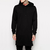 Cotton Men Sweatshirts Solid black