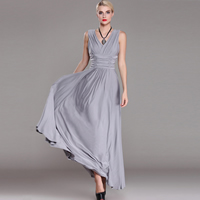 Milk Silk Long Evening Dress ankle-length Solid