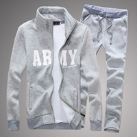 Cotton Men Sportswear Set, different size for choice, Pants & coat, printed, letter, more colors for choice, Sold By Set