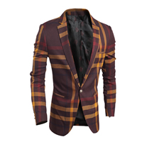 Polyester & Cotton Men Leisure Suit, different size for choice, plaid, more colors for choice, Sold By PC