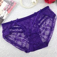 Lace & Cotton Hip-hugger Sexy Thong hollow & breathable jacquard floral Size:Free Size 10PCs/Lot Sold By Lot