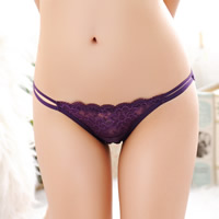 Lace & Cotton Hip-hugger Sexy Thong hollow & transparent & breathable jacquard floral Size:Free Size 10PCs/Lot Sold By Lot