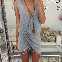 Cotton One-piece Dress Solid