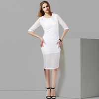 Polyester Autumn and Winter Dress, different size for choice, Solid, more colors for choice, Sold By PC