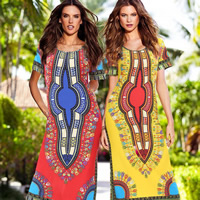 Milk Silk One-piece Dress, different size for choice, with Milk Silk, printed, geometric, more colors for choice, Size:Free Size, Sold By PC