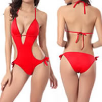 Spandex Monokini hollow   breathable Solid 3PCs/Lot
