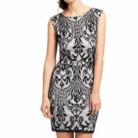 Lace   Cotton Sexy Package Hip Dresses floral black Sold By PC