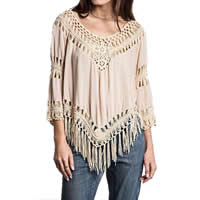 Line & Polyester Miracle Tassel Swimming Cover Ups, hollow & breathable, Solid, more colors for choice, Size:Free Size, Sold By PC