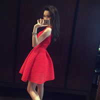 Polyester Ball Gown One-piece Dress patchwork