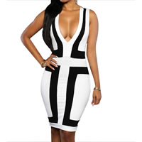 Milk Silk Sexy Package Hip Dresses, different size for choice, patchwork, more colors for choice, Sold By PC