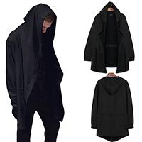 Cotton Men Cardigan Solid black