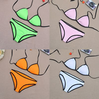 Spandex Bikini backless breathable patchwork