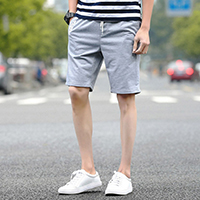 Polyester Middle Waist Men Capri Pants, different size for choice, printed, letter, more colors for choice, Sold By PC