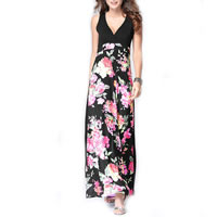 Polyester & Cotton One-piece Dress, different size for choice, printed, different pattern for choice, black, Sold By PC