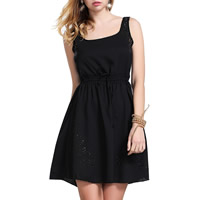 Chiffon One-piece Dress hollow Solid Sold By PC