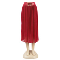 Chiffon Plus Size Skirt Solid Sold By PC