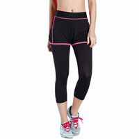 Milk Silk Women Yoga Pants, different size for choice & false two piece & skinny, patchwork, more colors for choice, Sold By PC