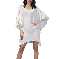 Chiffon Swimming Cover Ups, transparent, Solid, beige, Size:Free Size, Sold By PC