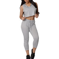 Spandex & Polyester Women Sportswear Set, different size for choice, tank top & Pants, Solid, more colors for choice, Sold By Set