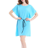 Chiffon One-piece Dress, different size for choice, Solid, more colors for choice, Sold By PC