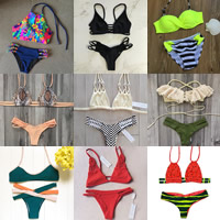 Nylon Bikini printed different color and pattern for choice