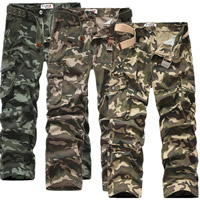 Cotton Men Casual Pants, different size for choice & loose, printed, camouflage, more colors for choice, Sold By PC