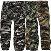 Cotton Men Casual Pants printed camouflage