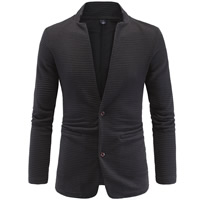 Polyester   Cotton Plus Size Men Leisure Suit patchwork black