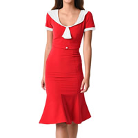 Spandex & Polyester One-piece Dress patchwork Sold By PC