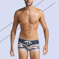 Nylon Swimming Trunks, different size for choice, printed, different color and pattern for choice, Sold By PC