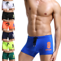Nylon Swimming Trunks, different size for choice, printed, number pattern, more colors for choice, Sold By PC
